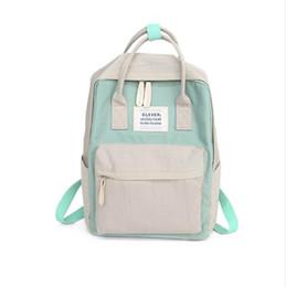 $enCountryForm.capitalKeyWord UK - 2019 Women Hot Canvas Backpacks Candy Color Waterproof School Bags for Teenagers Girls Laptop Backpacks Patchwork Backpack New