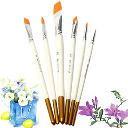 Wholesale Professional Paint Supplies Australia - 6x Professional Painting Brushes Set Acrylic Oil Watercolor Artist Paint