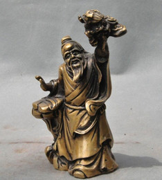 Ancient stAtues online shopping - 6 quot old chinese Period pure Ancient Old people Dragon Art statue sculpture