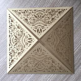 $enCountryForm.capitalKeyWord UK - Hollow Laser Cut Wedding Invitation Cards Pearl Paper Flamboyance Sculpture Design Invitation Cards Engagements Ceremony Birthday Party Card
