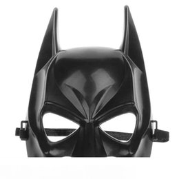 batman figure wholesale Australia - Half Face Batman Mask Black Classical Film Cartoon Figure Halloween Venetian Mardi Gras Masks Party Supplies For Masquerade Balls Boys Toys