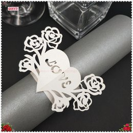 $enCountryForm.capitalKeyWord Australia - 100PCS Lot Heart Shaped Pearlescent Paper Napkin Rings Wedding Birthday Party Table Decorations Accessories 7ZSH883