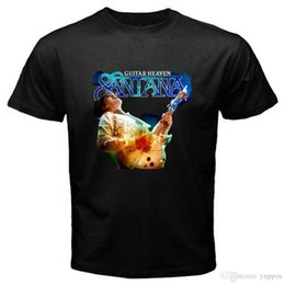 $enCountryForm.capitalKeyWord Australia - China Style Fashion Rock New SANTANA Guitar Heaven Rock Blues Guitar Men's Black T-Shirt Size S to 3XL High Quality Top Tees