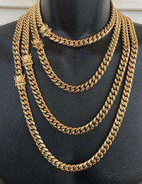 "$enCountryForm.capitalKeyWord Australia - HARLEMBLING 10mm Mens Miami Cuban Link Chain 14k Gold Plated HEAVY 18""-30"""