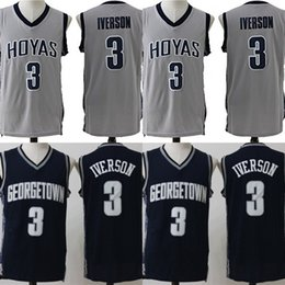 a11d5463b #3 Allen Iverson Georgetown Hoyas NCAA Jersey Mens All Stitched Allen  Iverson University College Basketball Jerseys Fast Shipping
