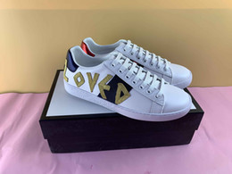 Wholesale white snakes for sale – custom Hot Designer Brand Casual Shoes white Ace green blue red stripe bee tiger snake loved sneaker for men women big size