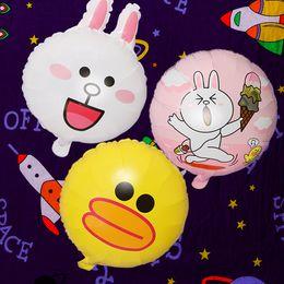 Balloons Design Cartoons Australia - 18 Inch Cartoon Aluminum Foil Balloon Rabbit Duck Bear Designs Birthday Party Decoration Balloon 52 Colors