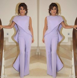 f560096b759 ElEgant sExy black pants online shopping - 2019 Elegant Capped Jumpsuits  Evening Dresses Crew Neck Ruffles