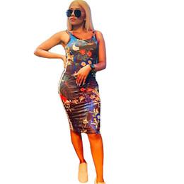 $enCountryForm.capitalKeyWord Australia - luxury Designer Dress Woman Summer Brand Bodycon Dresses Women Skirts Flower Printed Skinny Tank Vest Skirt Beach Sports Clubwear C62802