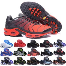 $enCountryForm.capitalKeyWord Australia - 2018 New Design Top Quality TN Mens shOes Breathable Mesh Chaussures Homme Tn REqUin Noir Casual Running ShOes Size 7-12 GH684F