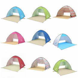 Wholesale Folding Beach Tents Portable Shelters Shade UV Protection Ultralight Tent Outdoor Fishing hiking Picnic Park beach sunshade CLS331