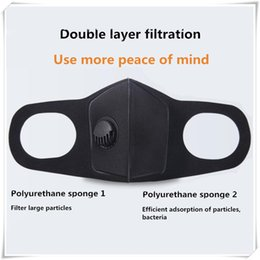 Respirator Masks Australia - Sponge Breathing Protective Face Mask PM2.5 Anti-dust Anti-fog Respirator For Cycling MTB 3.0 Respiratory Valve