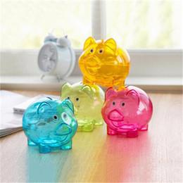 d986cd8a1da Cute Transparent pig Money Saving Box Piggy Coins case Pig shaped Bank  colorful types kids creative birthday gifts