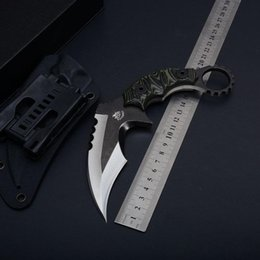 $enCountryForm.capitalKeyWord Australia - Karambit CS GO Counter Strike Knives D2 Survival knife fixed balde Hunting Knife tops tactical gear sharp Camping Tools
