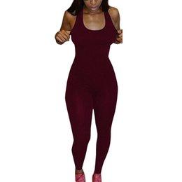 $enCountryForm.capitalKeyWord UK - New 2019 Fashion 1pc Women Casual Sleeveless Bodycon Romper Jumpsuit Club Bodysuit Long Pants Hot Selling D0635