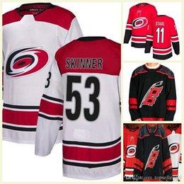 2018 New Season Carolina Hurricanes 53 Jeff Skinner Andrei Svechnikov de  Haan Micheal Ferland Justin Williams Staal Third Hockey Jersey c699b3260