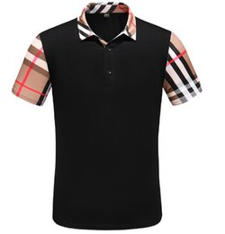 3b4f2e63fb5 BB 2019 Brand Designer polos shirt mens Summer Short Sleeve Cotton Polo  With Embroidered tiger men Casual Luxury Medusa tees t-shirt