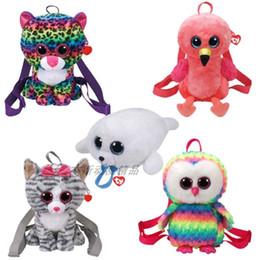 143780933a5 25cm Cartoon Baby TY beanie boos plush Toys bags Stuffed animal Mini big  eyes Plush money wallet Backpack kids girls school