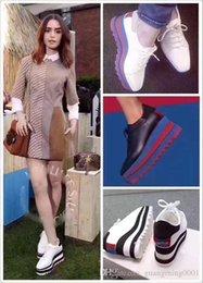 Großhandel 2019 heißer Verkauf! Stella Mccartney Schuhe Top-Qualität aus echtem Leder Damenmode Platform Wedge Platform Oxfords Boost Sneakers 44F4