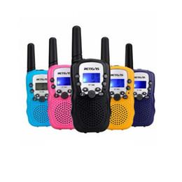 Опт Retevis RT388 дети Walkie Talkie детские игрушки Радио 0.5 Вт PMR PMR446 FRS VOX фонарик ручной 2 Способ Радио ВЧ трансивер