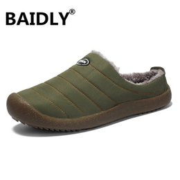 $enCountryForm.capitalKeyWord Australia - Winter Men Shoes Warm Plush Home Slippers Men Flip Flops Indoor Slippers Waterproof Outdoor Shoes Zapatos De Hombre Big Size