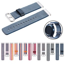 samsung clock 2019 - watchband clock reloj bracelet Nylon weave Band Wrist Strap 20mm For Samsung Galaxy watch 42mm Gear Sport relogio strap