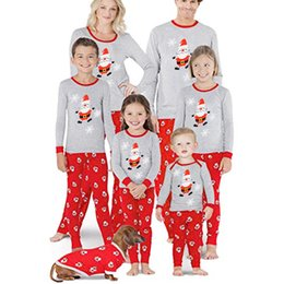 Wholesale funny christmas pajamas for sale – halloween 2019 Fashion Men Dad Family Papa Christmas Pajamas Indoor Shirt Pants Sleep Nightwear Funny Casual Two piece top pants