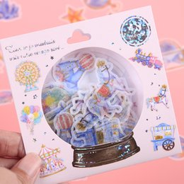 $enCountryForm.capitalKeyWord NZ - 18 Sets 1 lot Stationery Stickers Japanese Style Cute Planet Decorative Mobile Stickers Scrapbooking DIY Craft Stickers