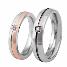 $enCountryForm.capitalKeyWord Australia - Titanium Couple Rings Jewelry 2019 New Fashion High Quality Zircon Geometric Circle Stainless Steel Ring Wholesale Men Women Band Ring LR071