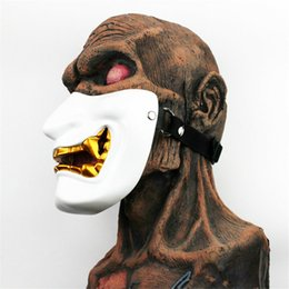 $enCountryForm.capitalKeyWord Australia - Hot Movie Vintage Japanese Buddhist Evil Oni Noh Hannya Mask Halloween Party Costume Horror Ghost Face Mask Half Face Mask Toys