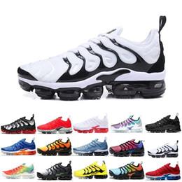 Black art work online shopping - Sneaker TN Plus Running Shoes Men Women Sunset Triple Black White SILVER PATTERNS Game Royal Work Blue Volt Sport Shoe