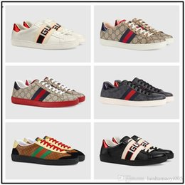 $enCountryForm.capitalKeyWord NZ - Top Men Brand Sneakers Shoes Designer Casual Shoes Black Genuine Leather Mens Sports Shoes With Bee Tiger Size 36-45