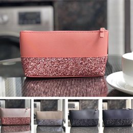 Handbag wristlet online shopping - 2019 Brand Fashion Luxury Designer Bags Handbags Purses Women KS PU Sequins Wallet Wristlet Zipper Purse Outdoor Card Bags Coin Purse C61503