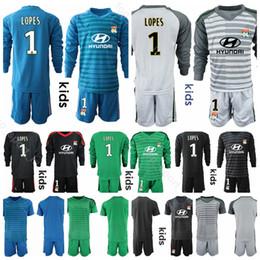 d12b67eda Goalkeeper Youth Lyon Jersey Long Sleeve Kids Soccer 1 Anthony Lopes 11  MEMPHIS 18 FEKIR 9 MARIANO Football Shirt Kits Uniform Children