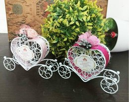 baby carriage decorations Australia - 100pcs lot Iron romantic pumpkin carriage wedding candy box wedding favor and gifts Baby Shower,Wedding Decoration,Wholesale 000