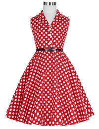$enCountryForm.capitalKeyWord UK - New Children Kids Girls Retro Vintage Sleeveless Lapel Collar Polka Dots Dress J190514