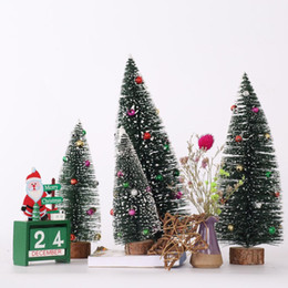 sticky gifts Australia - Christmas Decorations Christmas Flocking Sticky-Bead Tree Mini Desktop Tree Favorite Gift For Children
