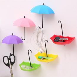 $enCountryForm.capitalKeyWord Australia - Creative Umbrella Shape 3PCs Wall Mount Hook Key Holder Storage Stand Hanging Hooks For Bathroom Kitchen Door HG99