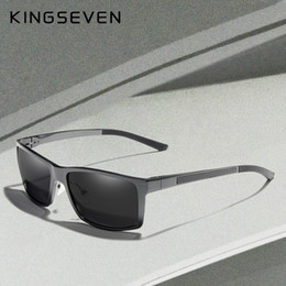 polarizing sunglasses Australia - KINGSEVEN New Design Aluminum Magnesium Sunglasses Men Polarized Square Driving Sun Glasses Male Eyewear Accessories For Men SH190924
