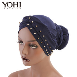 hair braiding styling UK - New style braided headwrap India Caps Turban Bandana African Point Drill Milk Silk Head Wrap Twist Hair Band Accessoires