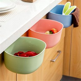 Can vegetables online shopping - European Fashion Large Kitchen Plastic Storage Box Cabinet PVC Hanging Trash Can Coverless Fruit Vegetable Daily Supplies