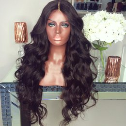 Under Hair Dyeing Australia - Brazilian Human Hair can be dyed Full Lace Wigs Black Women Glueless Lace Front Human Hair Wigs with baby hair natural hairline