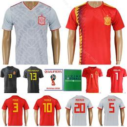 ... fútbol de España Hombres de fútbol 3 PIQUE 18 JORDI ALBA 17 Kits de  camiseta de fútbol IAGO ASPAS 5 BUSQUETS 10 THIAGO Nombre personalizado Número  Rojo 379705c2986da