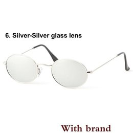 $enCountryForm.capitalKeyWord Australia - New Oval Sunglasses men women Alloy frame uv400 glass lens Celebrity Eyewear Vintage sun Glasses with Retail cases and box