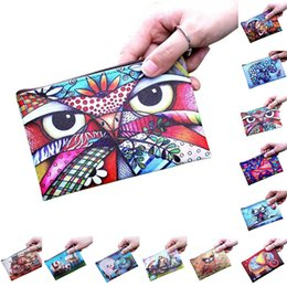 women elephant wallet 2019 - Fashion Women Coin Purse Pu Leather Clutch Bag Cartoon Animals Elephant Owl Giraffes Deer Graffiti Lady Girl Wallet Fa$1