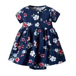 235e928eb62d 2019 New Causal Dress for Girls 0-2 Years for Summer Printed Flowers Baby  Girl Romper Short Sleeve Dresses Baby Clothes