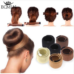 making wigs 2019 - Hair Accessories Synthetic Wig Donuts Bud Head Band Ball French Twist Magic DIY Tool Bun Maker Sweet French Dish Made Ha