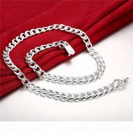 heavy snake chain Canada - Heavy 115g 10MM Quartet buckle sideways male models sterling silver plate necklace STSN011,fashion 925 silver Chains necklace factory