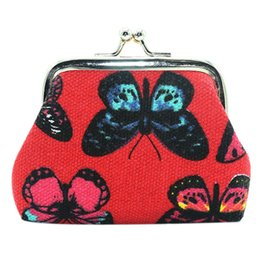 Wholesale Ladies Wallets Handbags Australia - Womens Butterfly Small Wallet Card Holder short ladies purse wallet Coin Purse Clutch Bag Handbag portafoglio donna*0.8
