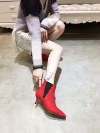 spring knives Australia - Best designer shoes, the most trendy Italian knife cut leather face pointed boots, wear-resistant stiletto fashion shoes heel 5.5CM